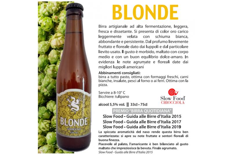 BLONDE - Golden ale w/...