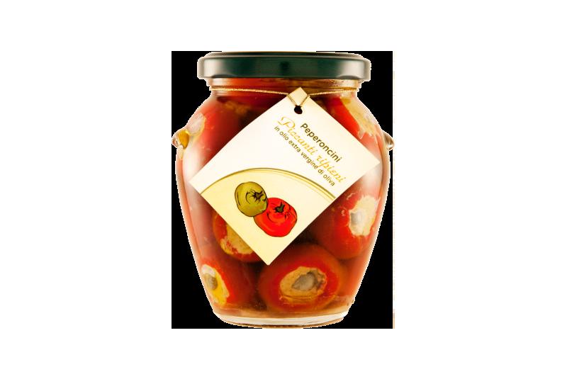 Peperoni Piccanti Ripieni Sott'olio EVO